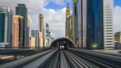Speed metro timelapse FullHD Stock Footage