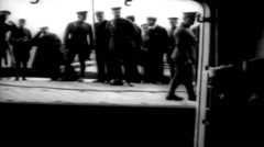 1919 - US transporter Leviathan (formerly Vaterland) 07 Stock Footage