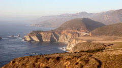 The Bixby Bridge at Dusk - stock footage