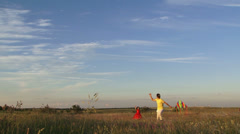 Flying a kite. Slow motion Stock Footage