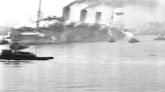 1919 - US transporter Leviathan (formerly Vaterland) 28 Stock Footage