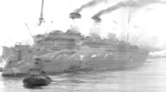 1919 - US transporter Leviathan (formerly Vaterland) 29 Stock Footage