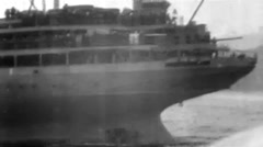 1919 - US transporter Leviathan (formerly Vaterland) 36 - New York Skyline Stock Footage