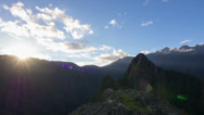 Stock Video Footage of Machu Picchu wide angle in time lapse at sunset