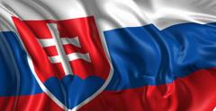 Flag of Slovakia - stock footage
