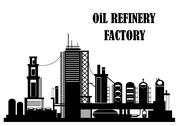 Stock Illustration of oil refinery factory