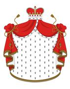 Heraldic royal mantle Stock Illustration
