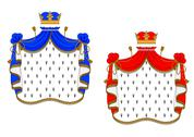 Stock Illustration of red and blue royal mantles