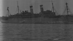 1919 - US transport George Washington 09 Stock Footage