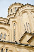 cathedral, st. trinity, sameba, church - stock photo