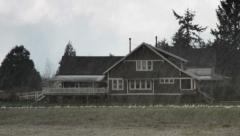 Farm House / Hailing / Snow Geese Stock Footage