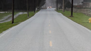 Stock Video Footage of Hail-covered Rural Road
