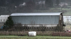 Old Barn / Hailing / Rural Hillside Stock Footage