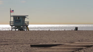 Stock Video Footage of Venice Beach Life Gaurd Stand