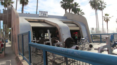 Venice Beach Muscle Beach Stock Footage