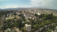 Aerial view granada Stock Footage