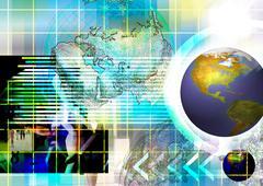 telecommunications industry communication technology - stock illustration