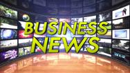 Stock Video Footage of Business News Text in Monitors Room, Loop