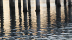 Soft Focus Pier Reflections Stock Footage