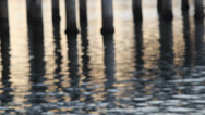 Stock Video Footage of Soft Focus Pier Reflections