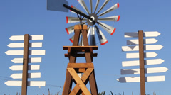 Windmill Tilt Down - stock footage