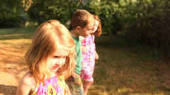 Children outside explore the great outdoors Stock Footage