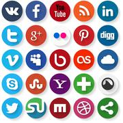 social media icons - stock illustration