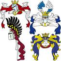 Stock Illustration of Heraldic Helmets
