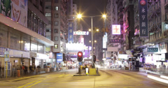 4K time lapse of a busy road in Kowloon, Hong Kong Stock Footage