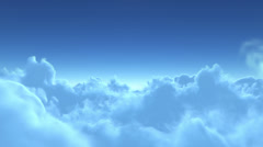 4K flight over clouds Stock Footage