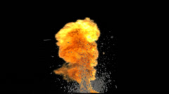 Big Explosion with Debris and Dust - pre keyed for fast and easy use Stock Footage