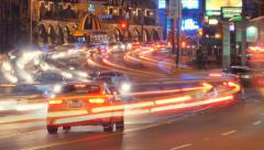 Traffic energy flow on Sunset Blvd in Los Angeles, California. Timelapse. - stock footage