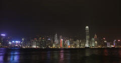 4K time lapse of the stunning Hong Kong island skyline and harbour Stock Footage