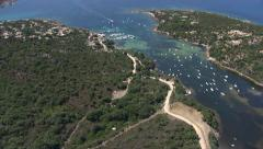 Aerial corsica coat sea Stock Footage