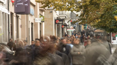 City Street crowd Stock Footage