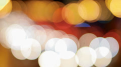 Bokeh traffic lights - stock footage