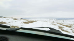 Off-road vehicle driving in the snow POV Stock Footage