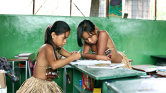 Amazon tribal people. Ecuador Stock Footage
