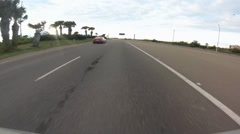 South Padre Island drive time lapse fast - stock footage