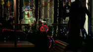 Stock Video Footage of Christmas Decorated Cafeteria Exterior