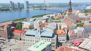 Stock Video Footage of Panoramic View of Riga
