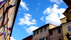 Siena district and flags Stock Footage