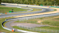 Chicanes on racetrack Stock Footage