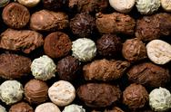 Stock Photo of various chocolate truffles