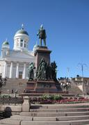 senate square, helsinki, finland - stock photo