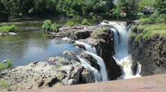 Waterfalls from High Angle (83) Stock Footage