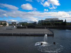 dublin docklands - stock photo