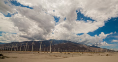 4K time lapse of wind turbines in Palm Springs, California Stock Footage