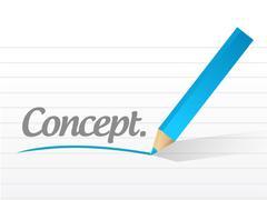 Stock Illustration of concept message illustration design