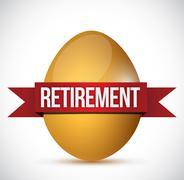 retirement egg illustration design - stock illustration